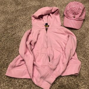 Polo sweatshirt and hat set